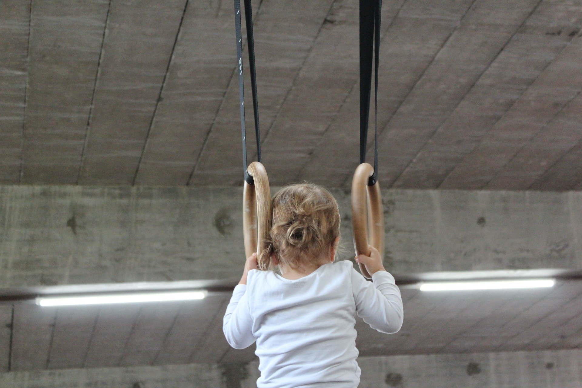 Olympic-Size Dreams, Little Girl on rings