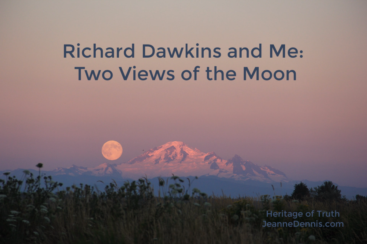 Richard Dawkins and Me: Two Views of the Moon