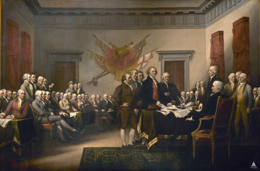 Signing of Declaration