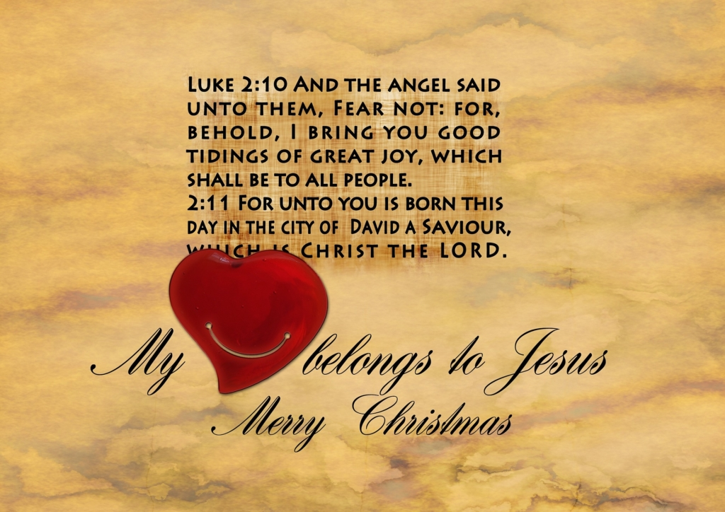 Luke 2:10 My Heart Belongs to Jesus