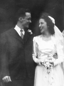 man & woman at wedding
