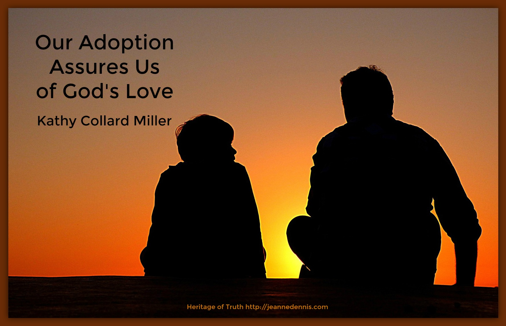 Our adoption assures us of God's love - father son silhouette