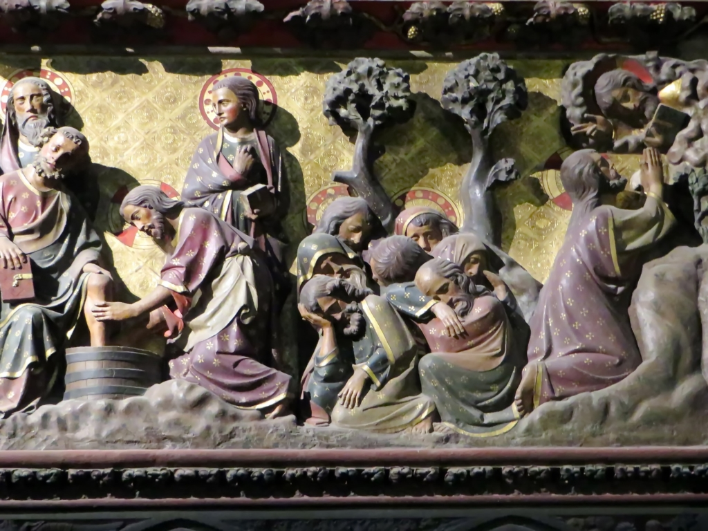 Jesus Washes the Disciples' Feet, Cathedral of Notre Dame, Paris