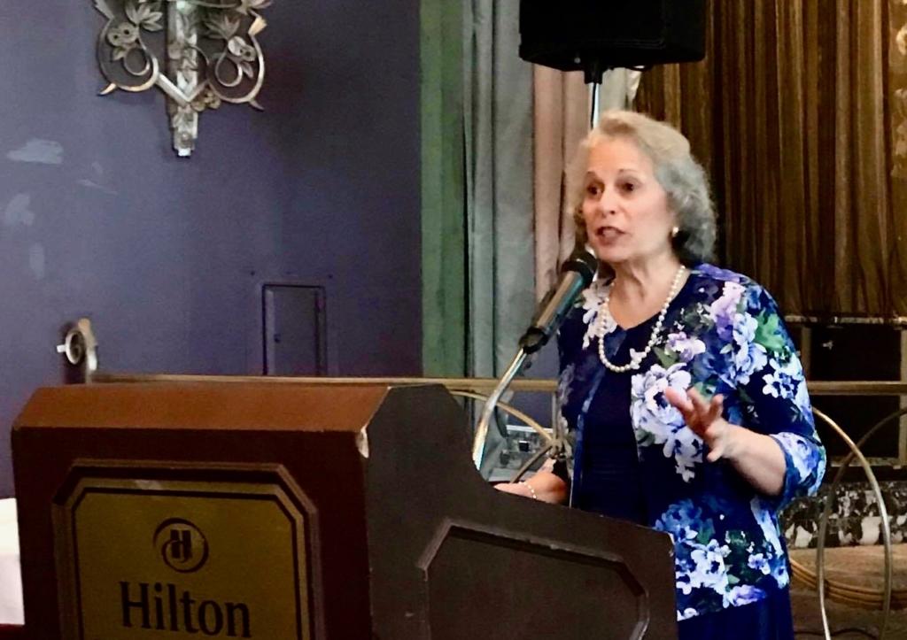 Jeanne Dennis singing at Golden Scroll Awards
