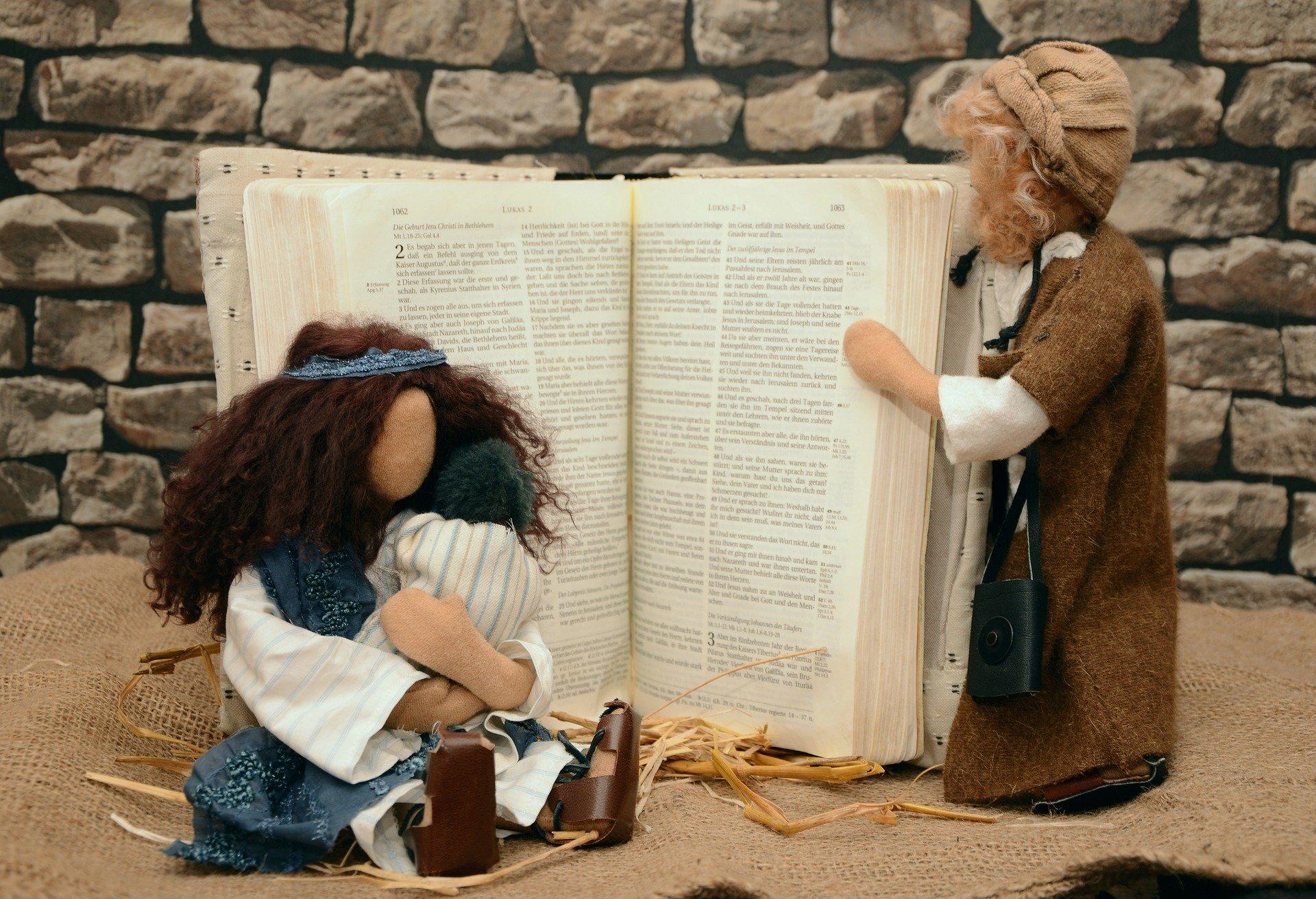Bible, Mary, Joseph, Jesus characters