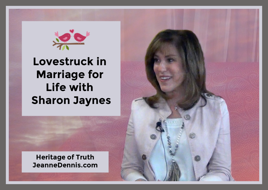 Lovestruck in Marriage for Life with Sharon Jaynes, Heritage of Truth, JeanneDennis.com, love birds decoration