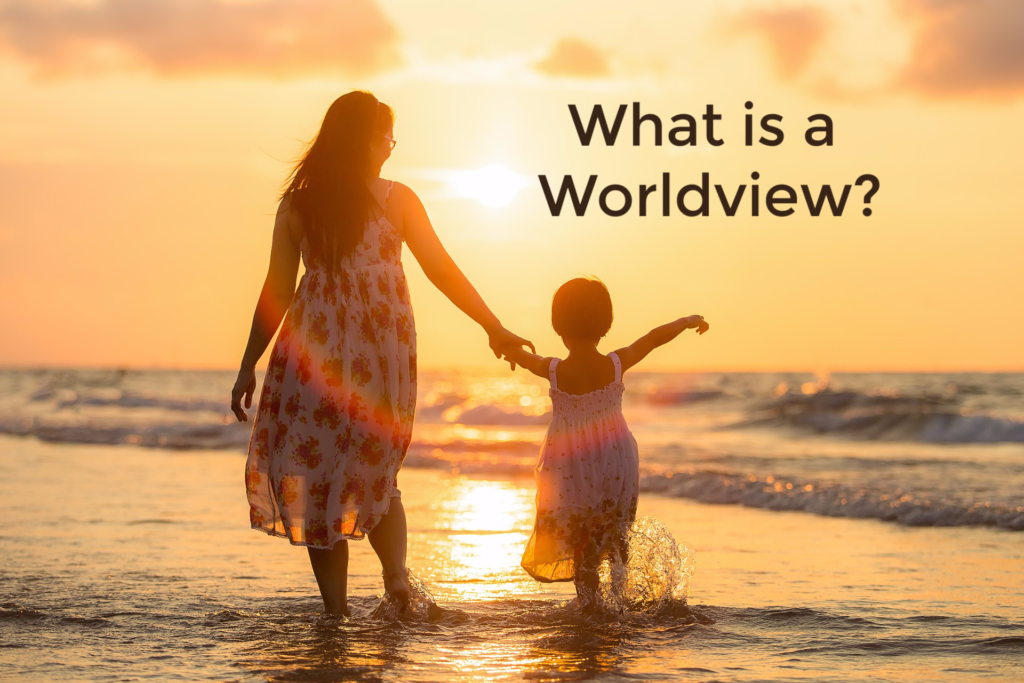 What Is a Worldview? mother and child on beach