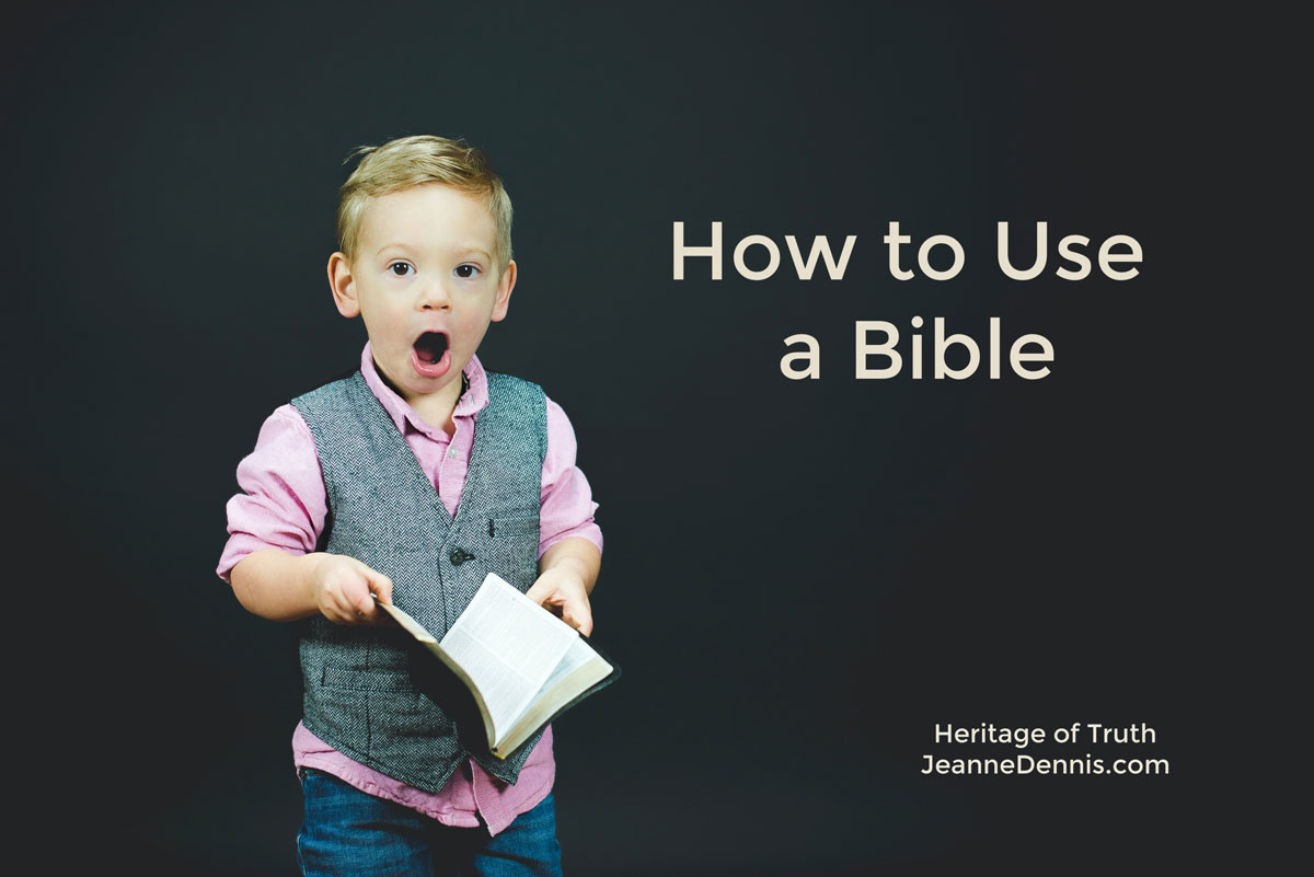 How to Use a Bible, Heritage of Truth, JeanneDennis.com
