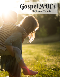 Gospel ABCs by Jeanne Dennis, one child giving another a piggyback ride