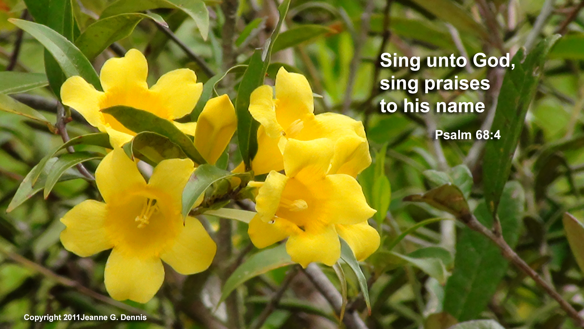 Sing Unto God; Sing praises to His name. Psalm 68:4