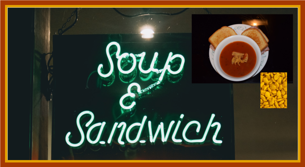 Critter Soup with Cookie Cutter Grilled Cheese